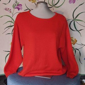 Vintage 1970s orange sweater